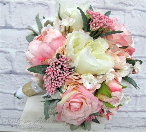 Wedding Flowers by Wedding Bouquet Pink Peony Bridal