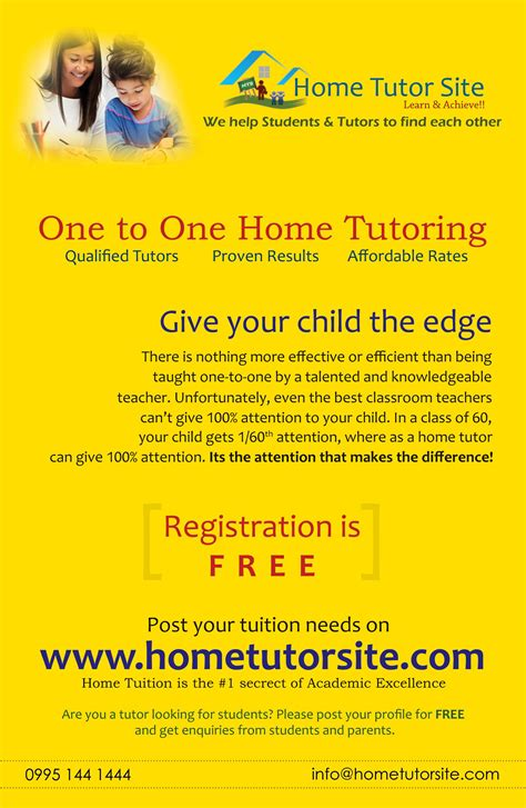 tutoring contract template uk first phlet for www hometutorsite advertising