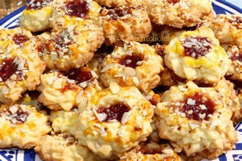 cuisine orientale recette biscuits sablés aux amandes et confiture de fraise