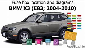 Fuse Box Location And Diagrams  Bmw X3  E83  2004-2010