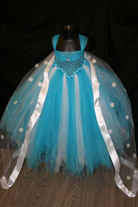 elsa tutu dress cape frozen inspired tutu dress blue