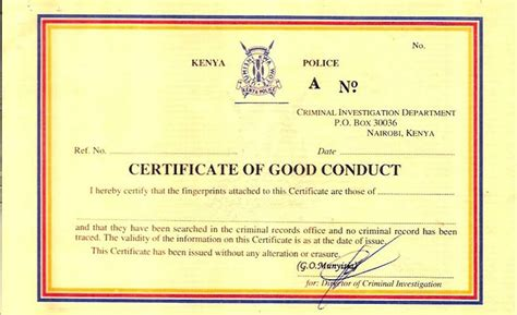Good Conduct Form by How To Get Your Police Clearance Certificate Certificate