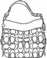 Coach Handbag Draw Coloring Handbags Purse Gucci Colouring Purses Bag Step Drawing Clipart Drawings Sheets Sketches Illustration Picolour Belt Kerra sketch template