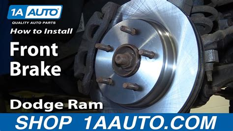 install repair replace front brakes  dodge ram