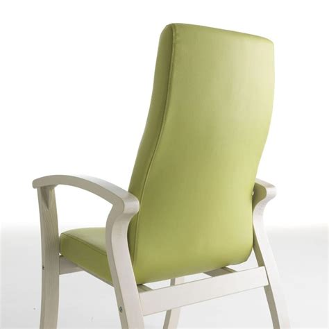 comfortable chair with a high back for seniors idfdesign