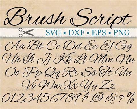 brush script calligraphy font monogram svg dxf eps png