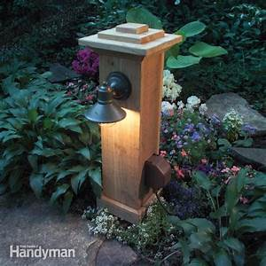 How to install outdoor lighting and outlet the family
