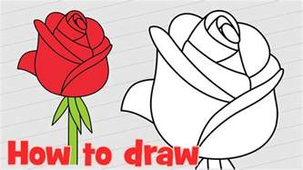 draw  rose step  step easy  kids