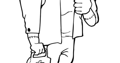 frankenstein colouring pages page  horror coloring