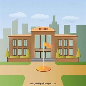 School building illustration Vector | Free Download