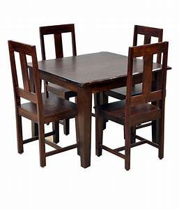 HomeTown Vienna Solidwood 4 Seater Dining Set - Buy