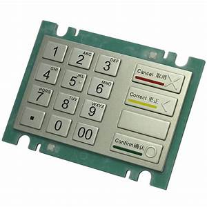 16 Keys Stainless Steel Metal Keypad S-6160a Turkish Layout