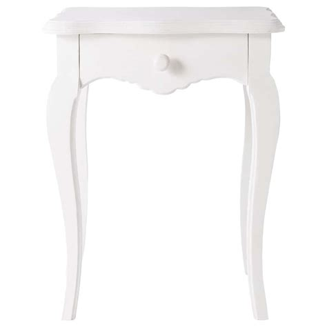 table de chevet wenge mango wood bedside table with drawer in ivory w 45cm