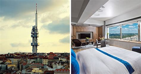 room hotel   tower overlooking prague