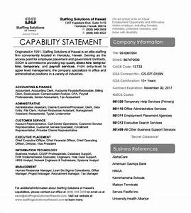 sample capability statement templates 15 free documents With capabilities statement template