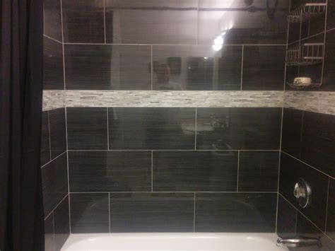 24 inch tile steve s bathroom remodeling cedar park texas shower and tub remodel 12 by 24 inch tile with a