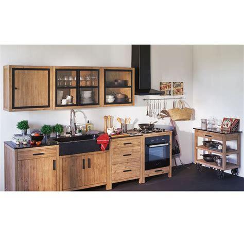 alinea cuisine ensemble de meubles de cuisine en acacia naturel lys