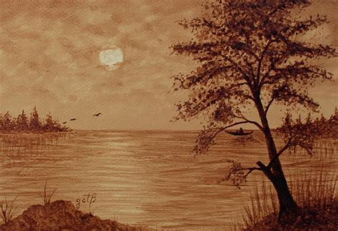 This hub explores the history of these paintings and prints and the meaning of the moon in chinese and japanese artwork. Under Moonlight Original Coffee Painting Painting by Georgeta Blanaru