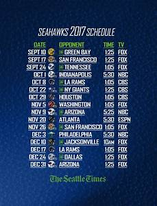 Printable Week Calender Print And Save Your Own 2017 Seahawks Schedule The