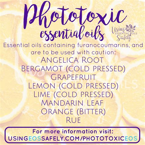 Phototoxic Essential Oils  How To Stay Safe In The Sun