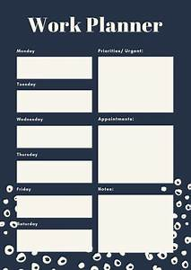 Daily Schedule Templates Customize 84 Weekly Schedule Planner Templates Online Canva