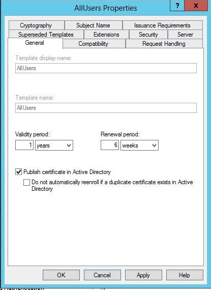 configuring active directory certificate services  auto