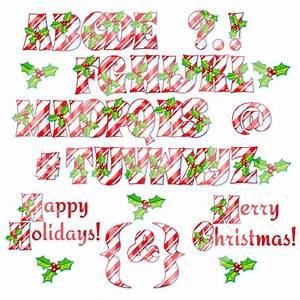 candy cane alphabet clipart 21 With candy cane alphabet letters