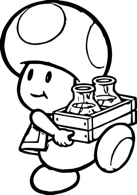 Genuine Super Mario Mushroom Coloring Pages Drawing At