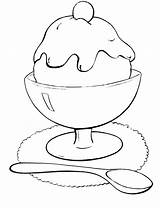 Ice Cream Coloring Pages Spoon Icecream Scoop Printable Bowl Drawing Sunday Cone Getcolorings Popular Getdrawings Glass Fun источник Olphreunion sketch template