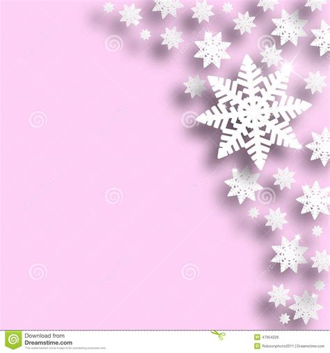 Silver Pink Snowflake Background by Pink Color Snowflake Background Stock