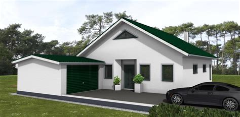 Bungalow 90 M² Mit Satteldach  Amex Hausbau Gmbh