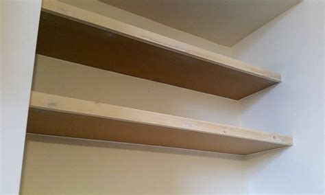 simple floating alcove shelves  gosforth