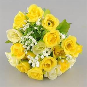 Bouquet De Fleurs : bouquet de fleur artificielles jaune achat vente bouquet de fleur artificielles jaune pas ~ Teatrodelosmanantiales.com Idées de Décoration
