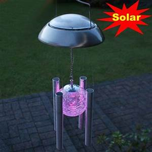 New windbell campanula shape led solar light outdoor