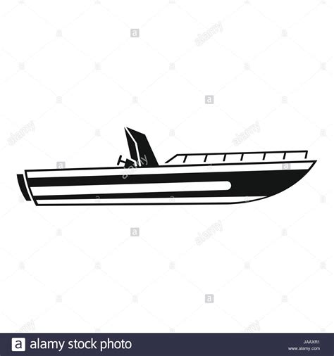 Motor Boat Vector by Motor Speed Boat Icon Simple Style Stock Vector