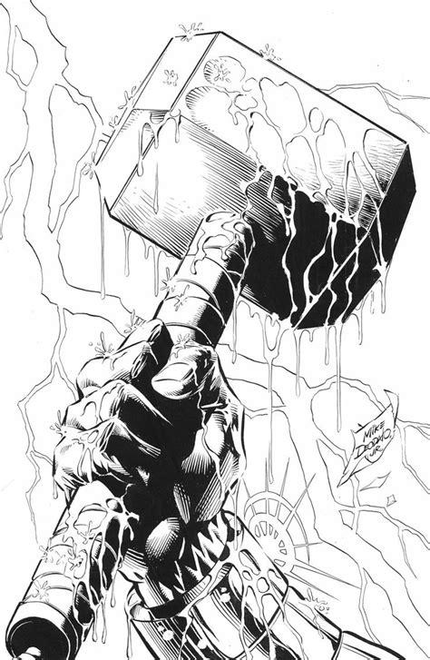 Mjolnir.   Tattoos   Thor hammer tattoo, Thors hammer, Thor tattoo