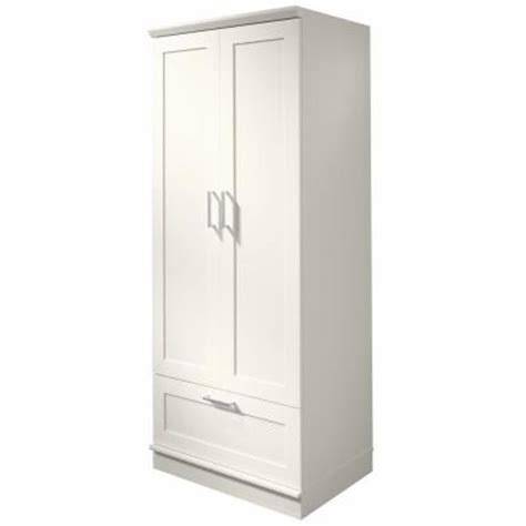 home depot white storage cabinets sauder home visions laminate wardrobe storage cabinet with