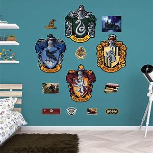 hogwarts house sigils wall decal shop fatheadr for harry With fathead wall decals