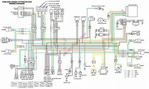 Wiring Diagrams Honda Shadow 1100 2005  Honda Shadow Vt1100 Wiring Diagram Honda Wiring Diagram
