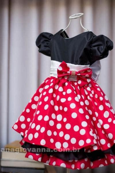 vestido de festa infantil da minnie vermelha ana giovanna