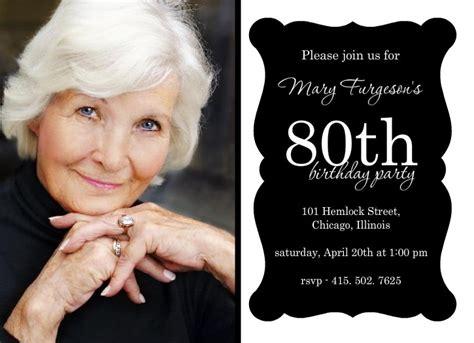 80th Birthday Invitations Templates FREE PRINTABLE