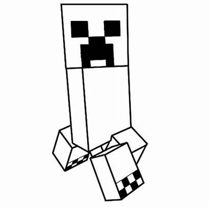 Minecraft Dessin Creeper Coloriage Colorier Coloring Imprimer
