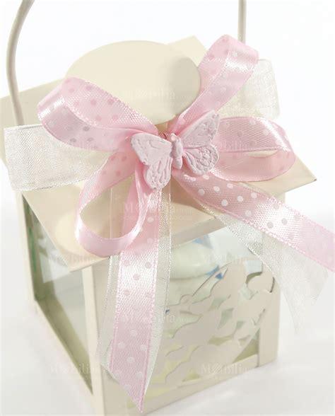 candele per bomboniere bomboniera lanterna cuore nastro pois rosa e gessetto
