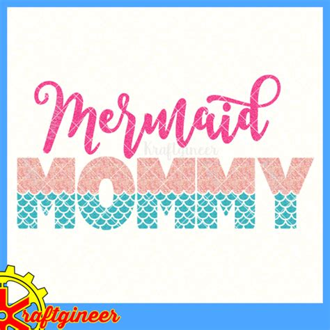 mothers day svg mermaid mom svg dxf eps cut file