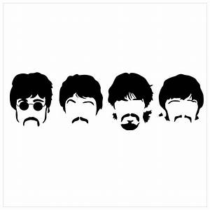 THE BEATLES Silhouette Band Vinyl Sticker Decal $35 00