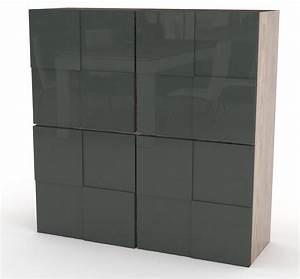 Meuble De Rangement Salon : meuble de rangement design gris laqu ch ne bamako ~ Dailycaller-alerts.com Idées de Décoration