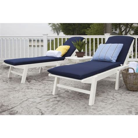 chaise navy polywood nautical white 3 plastic patio chaise set