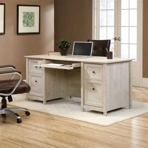 Sauder Edgewater Collection Executive Desk by Sauder 418795 Edge Water Executive Desk The Furniture Co