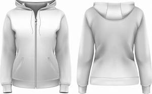 Clothes Hoodie Zipper Template Vector Free Vector In