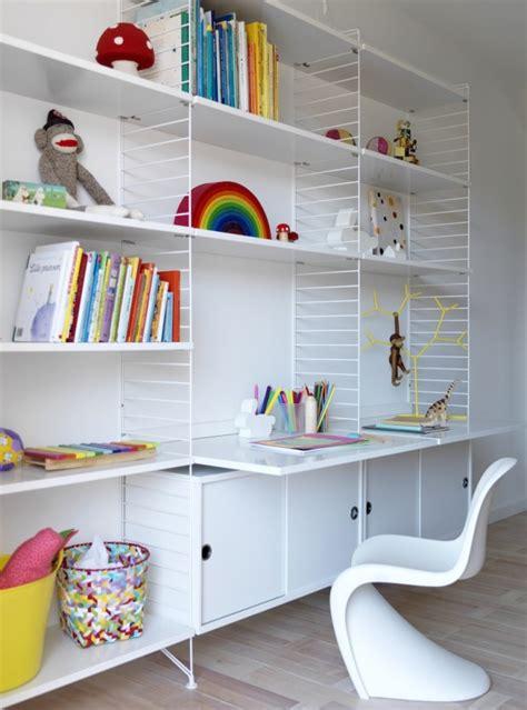 bureau string bibliotheque etagere bureau table de lit